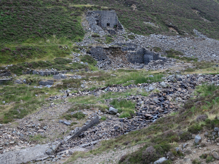 Old mine workings by Grainsgill Beck, Mosedale