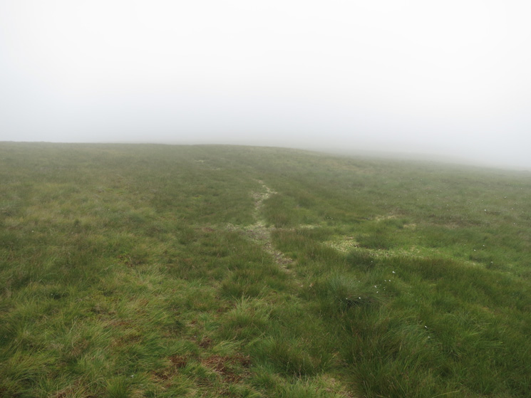 Heading up Knott, it always feels further when you can't see how far it is to go