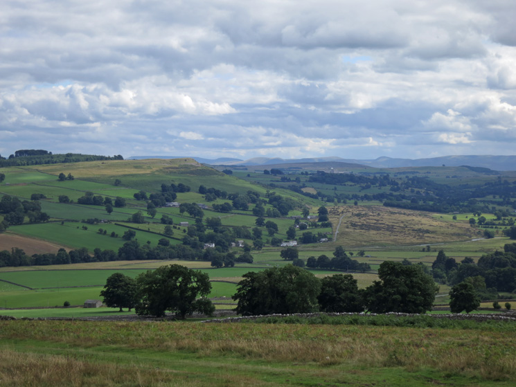 Looking across to Knipe Scar from above Helton