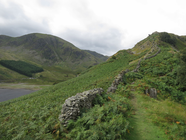 The start of the ridge with Harter Fell on the left
