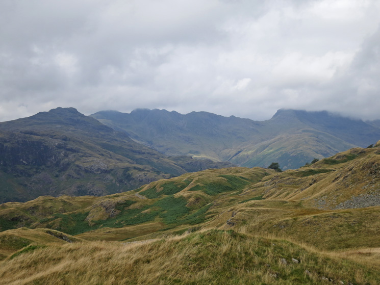 Pike O'Blisco, Crinkle Crags and Bowfell