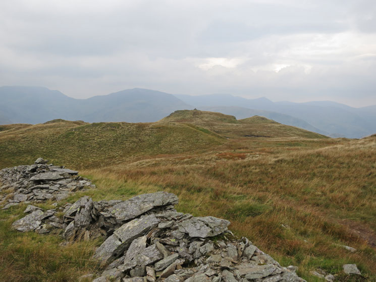 Looking across to Brock Crags summit