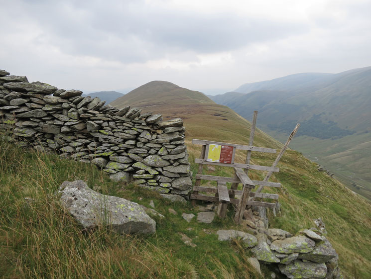 The Nab from the wall/stile at the foot of Rest Dodd's north ridge
