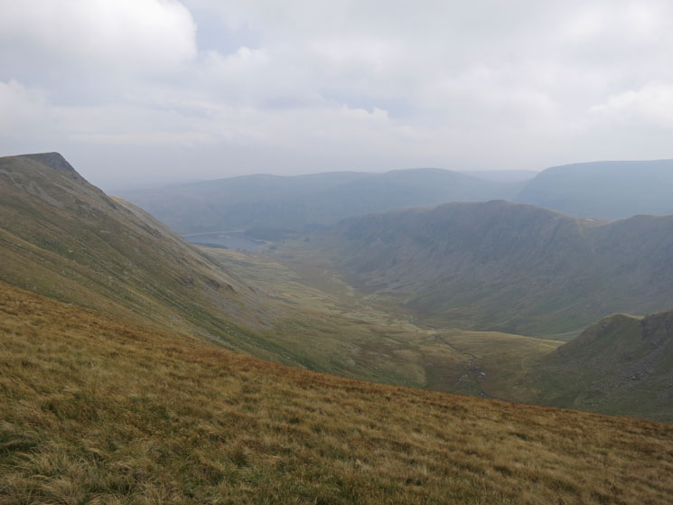 Riggindale with Kidsty Pike on the left and Rough Crag on the right