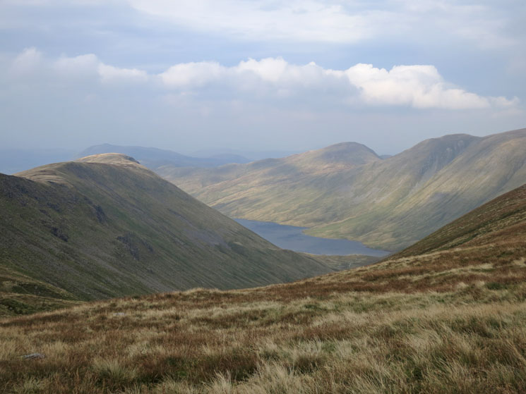 Hayeswater with Gray Crag on the left and Rest Dodd and The Knott on the right