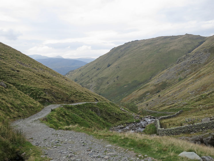 The track down from Hayeswater dam to Hartsop