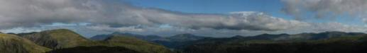Panorama from Base Brown's summit: Dale Head to Dollywaggon Pike